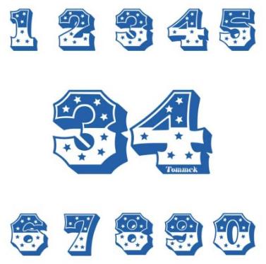 Individuelle Startnummern angefertigt nach Ihren Wünschen