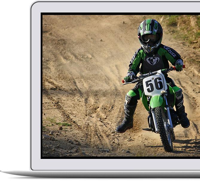 Motocross Startnummern für Kinder Motorrad