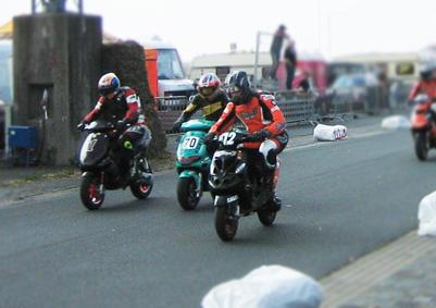 Scooter Startnummern Aufkleber für Street Racing